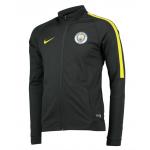 เสื้อแจ็คเก็ตเทรนนิ่งแมนเชสเตอร์ ซิตี้ 2016 2017 สีเทาเข้มของแท้