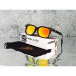 แว่นกันแดด Glassy Sunhater รุ่น Lox - Matte Black Red Mirror ฺBorn a Lion