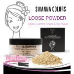 SIVANNA แป้งฝุ่นฝาดำ รุ่นดั่งเดิม ซิวานนา Loose Powder F010