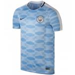 เสื้อปรีแมตช์เทรนนิ่งท็อปแมนเชสเตอร์ ซิตี้ สีฟ้าของแท้