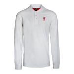 เสื้อโปโลลิเวอร์พูล ของแท้ 100% Liverpool FC Mens White Long Sleeve Leader Polo Shirt