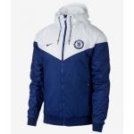 เสื้อแจ็คเก็ตเชลซี Authentic Windrunner สีน้ำเงินขาวของแท้