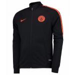 เสื้อแจ็คเก็ตแมนเชสเตอร์ ซิตี้ของแท้ Manchester City Squad Knit Track Jacket Black