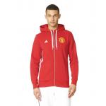 เสื้อฮู้ดอดิดาสแมนเชสเตอร์ ยูไนเต็ด คอร์ฟูลซิปฮู้ดดี้สีแดงของแท้