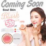 Soul skin blush on cc cushion ราคาส่ง xxx บลัชออน คุชชั่น เนื้อบางเบา ปัดแก้ม