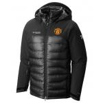 เสื้อแจ็คเก็ตแมนเชสเตอร์ ยูไนเต็ด Columbia Heatzone 1000 Turbodown Hooded Jacket สีดำของแท้