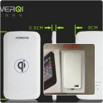 ชุดชาร็จไร้สายสำหรับ Iphone 5 / 5s (แท่นชาร์จ + Case Iphone 5 / 5s) Case สีขาว