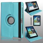 เคส Samsung Galaxy Tab2 10.1 Rotary หมุนได้ 360 สีฟ้า