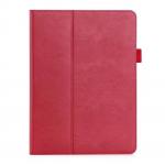 "Business Leather เคส iPad Pro 12.9"" 2017 รุ่นมีห่วงใส่ปากกา สีแดง"