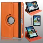 เคส Samsung Galaxy Tab2 10.1 Rotary หมุนได้ 360 สีส้ม