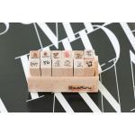 ตัวแสตมป์เกาหลีในกล่องไม้ 12 ชิ้น ลาย Letter