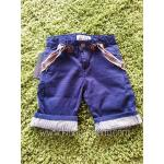 กางเกงเอี้ยมขาสั้น ผ้าคอตตอนสีนํ้าเงิน พับเบิ้ลปลายขา งานส่วนใส่หล่อๆแบบคุณชาย มีไซส์ 4-5ปี / 5-6ปี