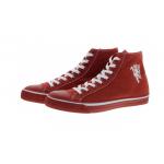 รองเท้าแมนเชสเตอร์ ยูไนเต็ดของแท้ 1878ไลส์สไตล์เทรนเนอร์สีแดงสำหรับผู้ชาย
