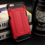 Rugged Hybrid Dual Layer Armor Case Cover For For OPPO R9s สีแดง