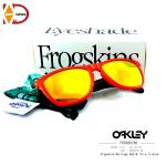 OAKLEY SPECIAL EDITION HERITAGE FROGSKINS RED W/ FIRE IRIDIUM SKU : 009013-34