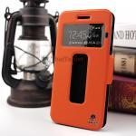 เคส Vivo Y55 รุ่น 2 ช่อง รูดรับสาย หนังเกรด A สีส้ม