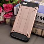 Rugged Hybrid Dual Layer Armor Case Cover For Vivo Y55 สี Rose Gold