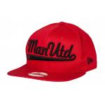 หมวกแมนเชสเตอร์ ยูไนเต็ดของแท้ New Era 9FIFTY Wordmark Snapback Cap สีแดง