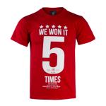 เสื้อทีเชิ้ตลิเวอร์พูลของแท้ Liverpool FC Istanbul Graphic T-Shirt Red