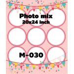 Template photo mix ขนาด 20x24 รหัส M-030