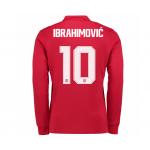 เสื้อแมนเชสเตอร์ ยูไนเต็ด 2017 2018 ทีมเหย้า พิมพ์ชื่อ Ibrahimovic 10 ฟอนท์ลีกคัพของแท้
