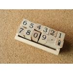 ตัวแสตมป์เกาหลีในกล่องไม้ 12 ชิ้น Number