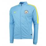 เสื้อแจ็คเก็ตเทรนนิ่งแมนเชสเตอร์ ซิตี้ 2016 2017 สีฟ้าใสของแท้