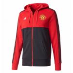 เสื้อฮู้ดอดิดาสแมนเชสเตอร์ ยูไนเต็ดของแท้ Manchester United 3 Stripe Hoodie Red