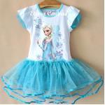 Elsa Dress เดรสสาวน้อย เจ้าหญิง Elsa จาก Frozen เสื้อผ้าคอตตอนยืดเนื้อดี กระโปรงผ้ามุ้งแต่งเลือมวิ้งๆน่ารักมากค่ะ ไซส์ 4Y