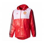 เสื้อกันลมอดิดาสแมนเชสเตอร์ ยูไนเต็ดของแท้ Manchester United 3 Stripe Windbreak Red