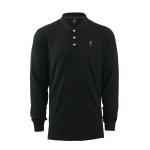 เสื้อโปโลลิเวอร์พูล เสื้อโปโลชายแขนยาว สีดำ ของแท้ 100% Liverpool FC Mens Black Long Sleeve Polo