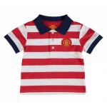เสื้อผ้าแมนเชสเตอร์ ยูไนเต็ดของแท้ สำหรับเด็กเล็ก Manchester United Striped Polo Shirt