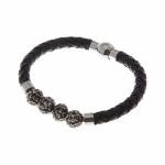 สร้อยข้อมือลิเวอร์พูล ของแท้ 100% Liverpool FC Ladies Leather and Diamante Bracelet