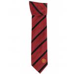 เนคไทแมนเชสเตอร์ ยูไนเต็ดของแท้ Manchester United Crest Striped Tie Red-Black Polyester