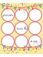 Template photo mix ขนาด 20x24 รหัส M-028