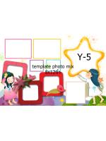 Template photo mix ขนาด 8x12 นิ้ว รหัส Y-05
