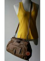 B61: Vintage leather bag กระเป๋าหนังแท้ กระเป๋าวินเทจ กระเป๋าสะพาย ถอดสายเป็นกระเป๋าถือได้