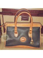 B53 :Vintage leather bag กระเป๋าถือใบสวย กระเป๋าหนังแท้ made in USA