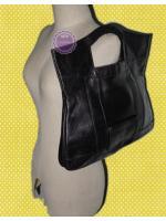 B56: Clutch leather bag กระเป๋าคลัทช์หนังแท้สีดำ ปรับเป็นกระเป๋าถือได้