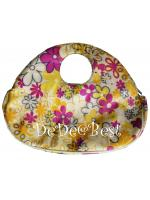 B10:2nd hand bag กระเป๋าทรงกลมมนลายดอกไม้หวานสดใส