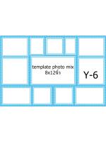 Template photo mix ขนาด 8x12 นิ้ว รหัส Y-06