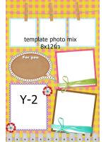 Template photo mix ขนาด 8x12 นิ้ว รหัส Y-02
