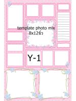 Template photo mix ขนาด 8x12 นิ้ว รหัส Y-01