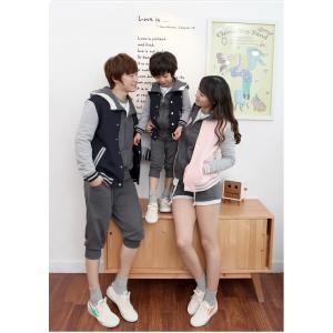 Pre -- พรีออเดอร์ ชุดครอบครัว พ่อ-แม่-ลูก เสื้อกันหนาวทรงเบสบอล คู่พ่อ-ลูกชายสีเทา คู่แม่-ลูกสาว สีชมพู กรุณาระบุไซส์