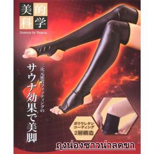 Sauna Beauty Leg Socks ถุงเท้าซาวน่าลดขนาดน่องให้เรียวได้เร็วขึ้น เห็นผลไว ขาเล็กแน่นอนจร้า Free Size