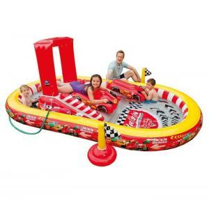 สระนํ้าเป่าลม สวนสนุก play center cars พร้อมแพเป่าลมรูปรถ 2 คัน