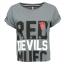เสื้อแมนเชสเตอร์ ยูไนเต็ดของแท้ สำหรับสุภาพสตรี Manchester United Crop Top - Grey Rock Marl - Womens thumbnail 2