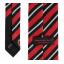 เนคไทแมนเชสเตอร์ ยูไนเต็ดของแท้ Manchester United Crest Striped Tie Red-Black White Polyester thumbnail 3