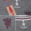 เสื้อแมนเชสเตอร์ ยูไนเต็ดของแท้ สำหรับสุภาพสตรี Manchester United Slouchy T-Shirt - Vintage Marl - Womens thumbnail 4
