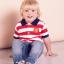 เสื้อผ้าแมนเชสเตอร์ ยูไนเต็ดของแท้ สำหรับเด็กเล็ก Manchester United Striped Polo Shirt thumbnail 2